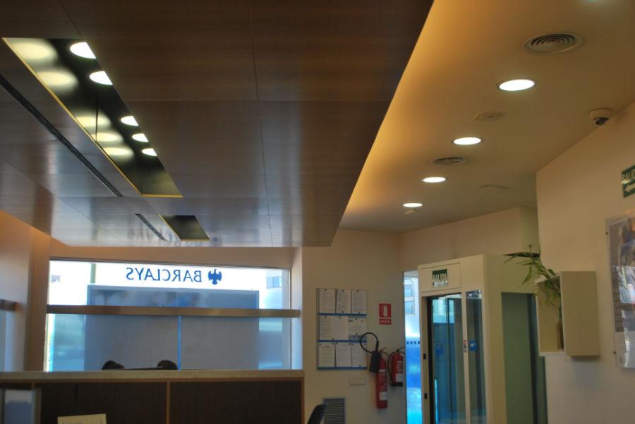 Paneles LED 20W en Barclays Madrid 01