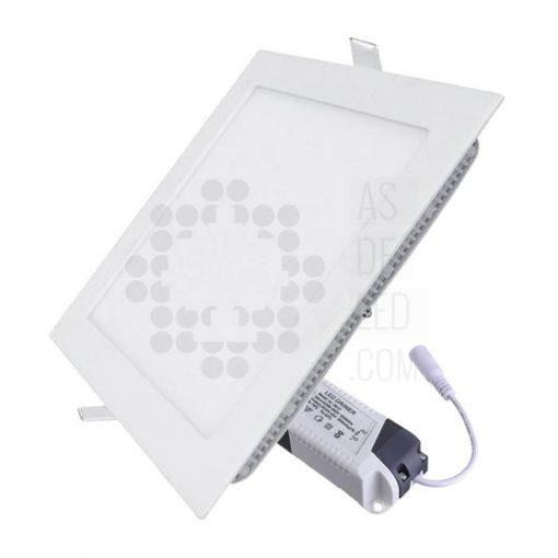 Comprar downlight LED cuadrado 18W marco blanco - PLC20EPDT