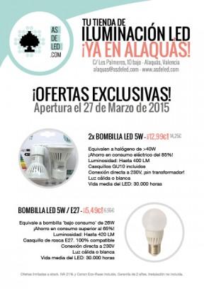 Folleto ofertas LED - Alaquás - Frontal
