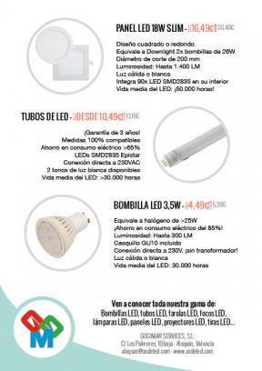 Folleto ofertas LED - Alaquás - Trasera