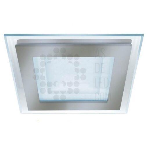 Comprar downlight LED cuadrado de 18W y diseño cuadrado con cristal 02