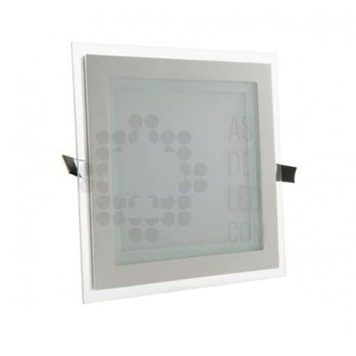 Comprar downlight LED cuadrado de 18W y diseño cuadrado con cristal 01