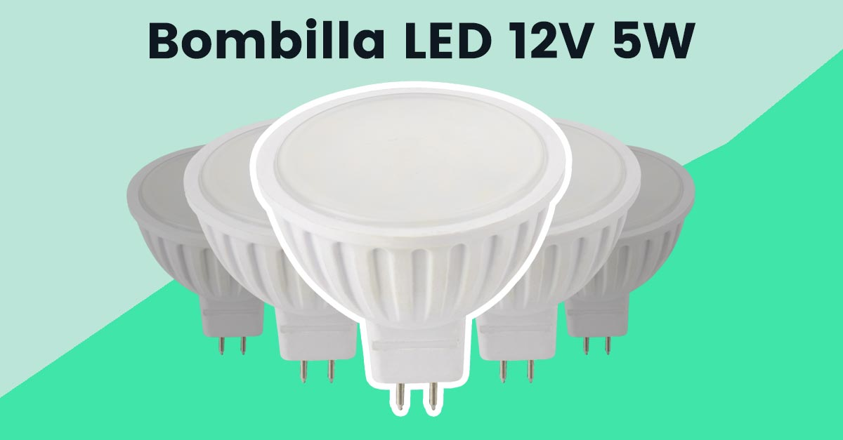 Bombilla 12V LED GU5.3 5W - bof5sa28sk
