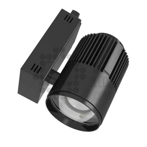 Comprar foco LED carril trifásico para alimentos - Negro
