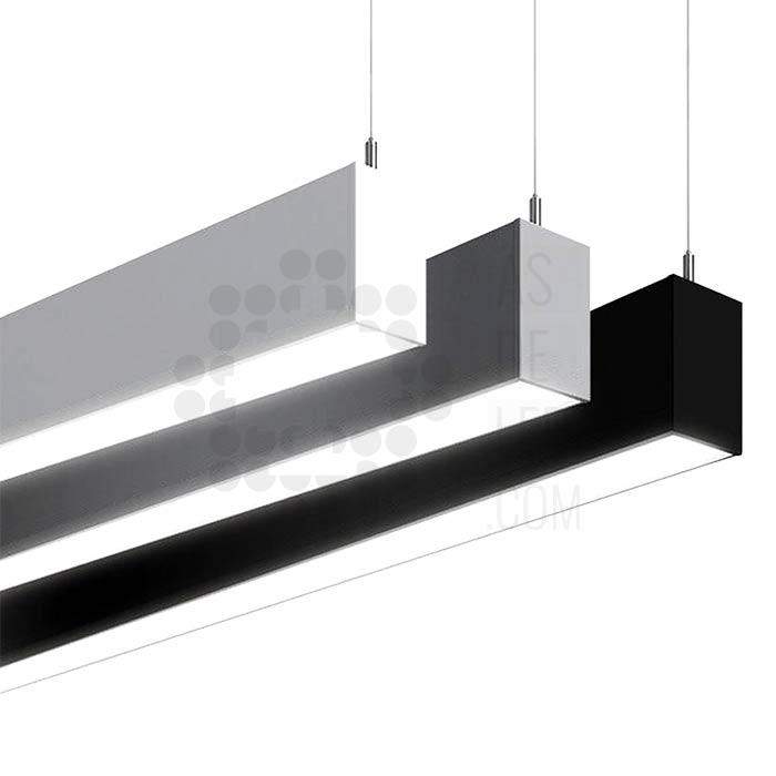 Comprar luminaria LED lineal, suspendida, aluminio, varios colores, interconectable 04