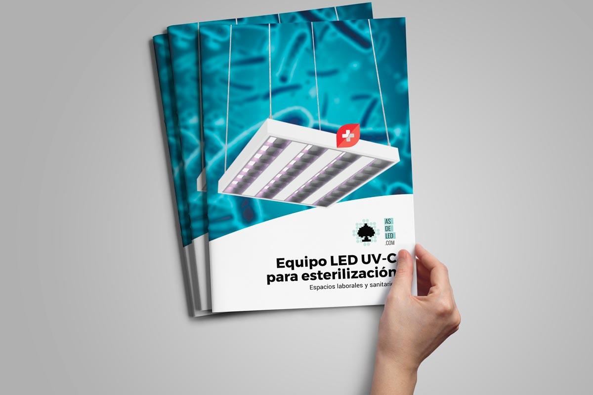 Comprar luminaria equipo LED con luz UVC para desinfección 02