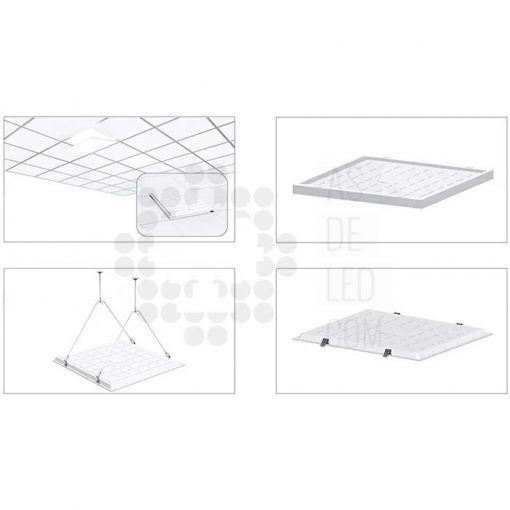 Comprar panel LED 60X60CM y 40W con luz directa a suelo - PL40PH60X60BACK 04
