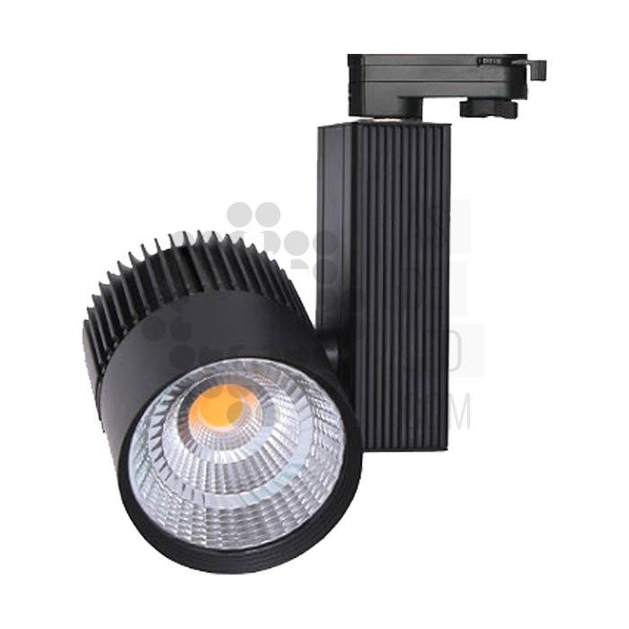 Comprar foco LED carril trifasico 30W FOE30EPNA - Negro
