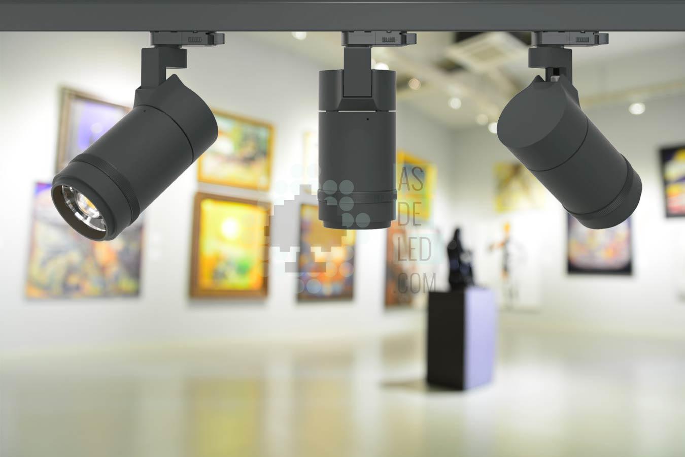 Fabricante de focos LED para carril trifasicos en España - LED museos