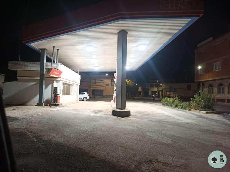 Iluminacion LED con proyector LED ATEX en gasolinera - Ciudad Real 01