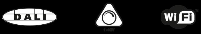 Iconos de control LED DALI 1-10V WIFI